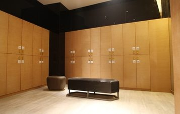 modern changing room small