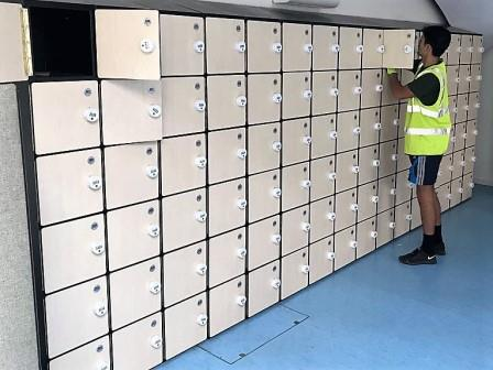 Six compartment lockers